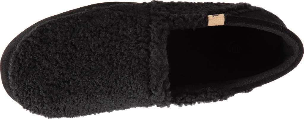 Men's Acorn Collapsible Heel Acorn Moc II Slipper, Black Berber Fleece, large, image 4