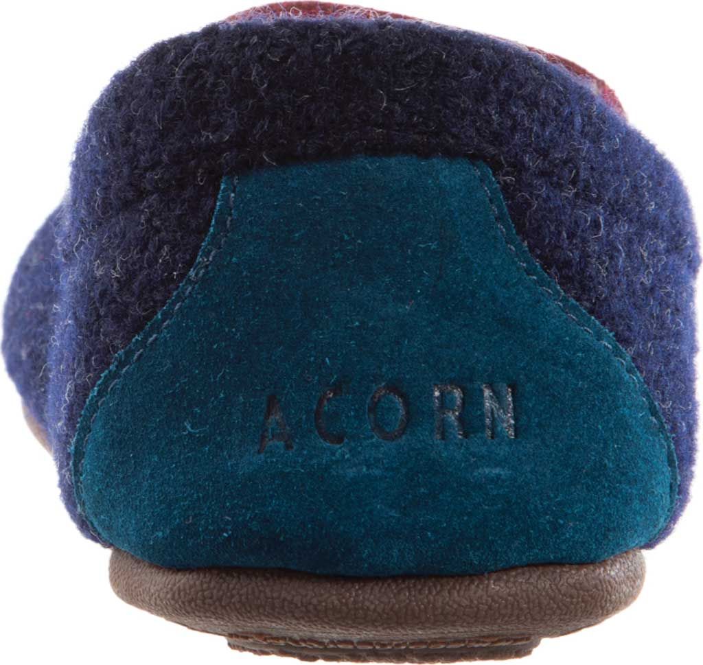 Women's Acorn Andover Driver Moc Slipper, Navy Blue Wool/Poly Blend, large, image 3