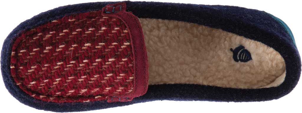 Women's Acorn Andover Driver Moc Slipper, Navy Blue Wool/Poly Blend, large, image 4