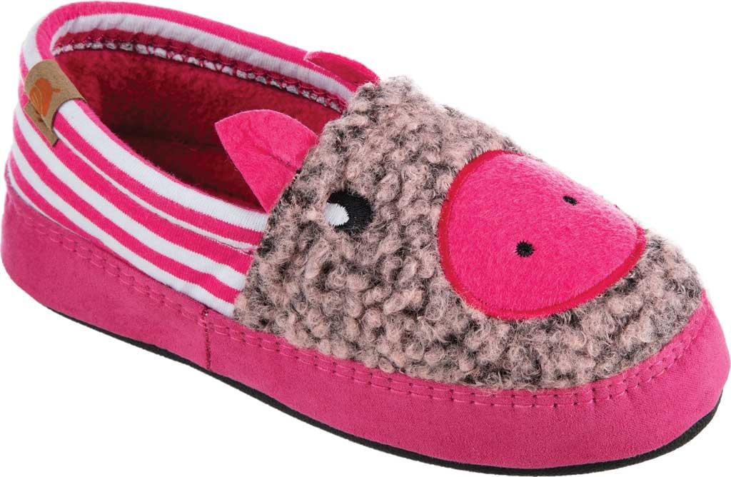 Children's Acorn Critter Novelty Moc Slipper, Pink Pearl Fleece/Poly Cotton, large, image 1