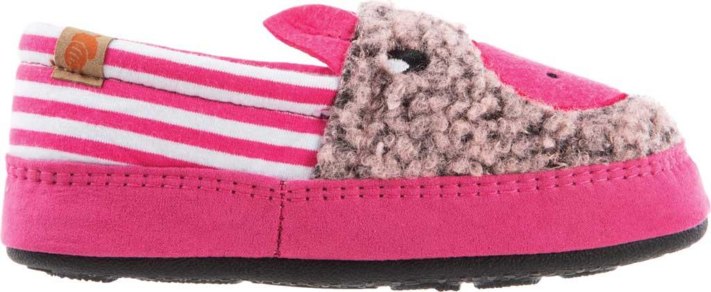 Children's Acorn Critter Novelty Moc Slipper, Pink Pearl Fleece/Poly Cotton, large, image 2