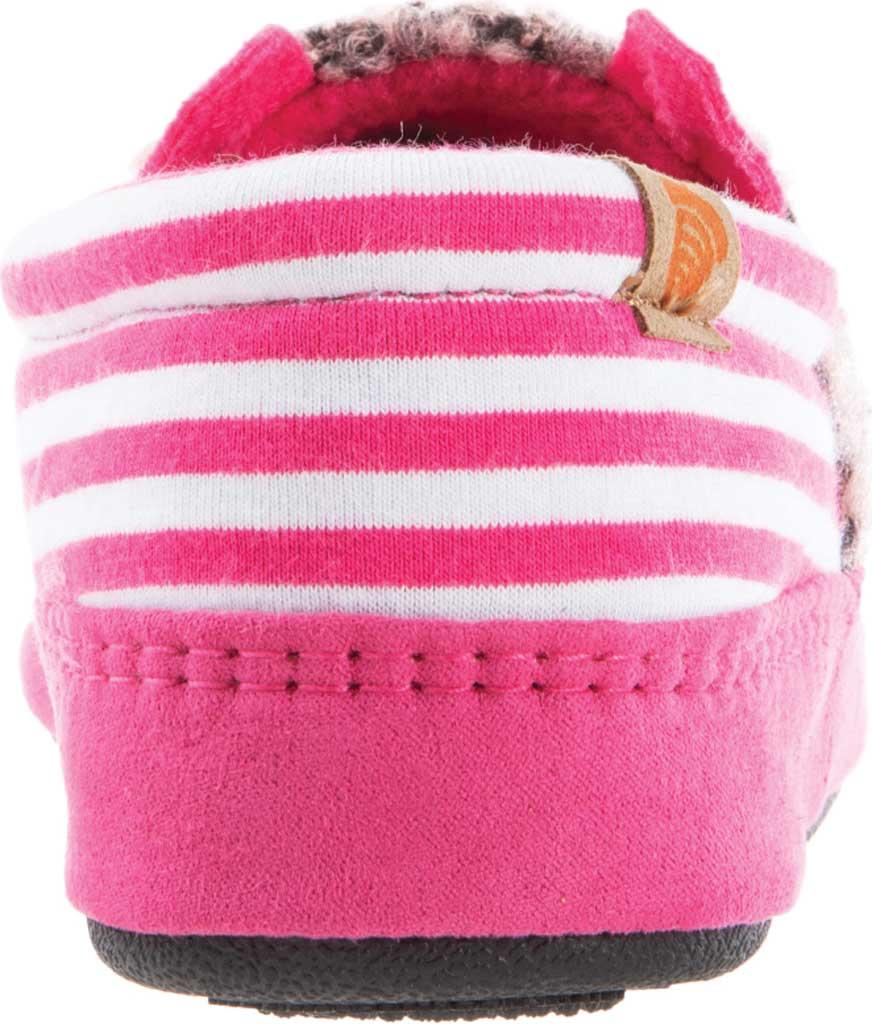Children's Acorn Critter Novelty Moc Slipper, Pink Pearl Fleece/Poly Cotton, large, image 3