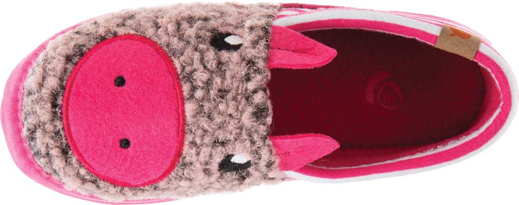 Children's Acorn Critter Novelty Moc Slipper, Pink Pearl Fleece/Poly Cotton, large, image 4
