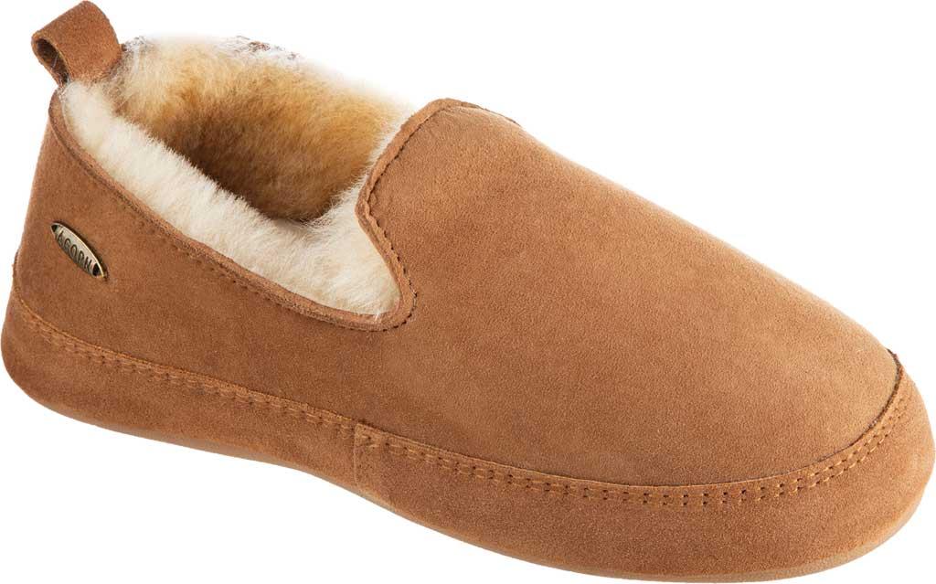 Women's Acorn Ewe Loafer Slipper, Chestnut Double-Faced Sheepskin, large, image 1