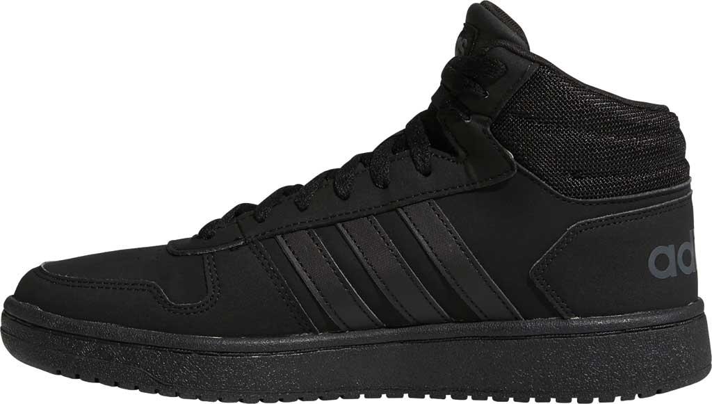Men's adidas Hoops 2.0 Mid Basketball Shoe, Core Black/Core Black/Grey Six, large, image 3