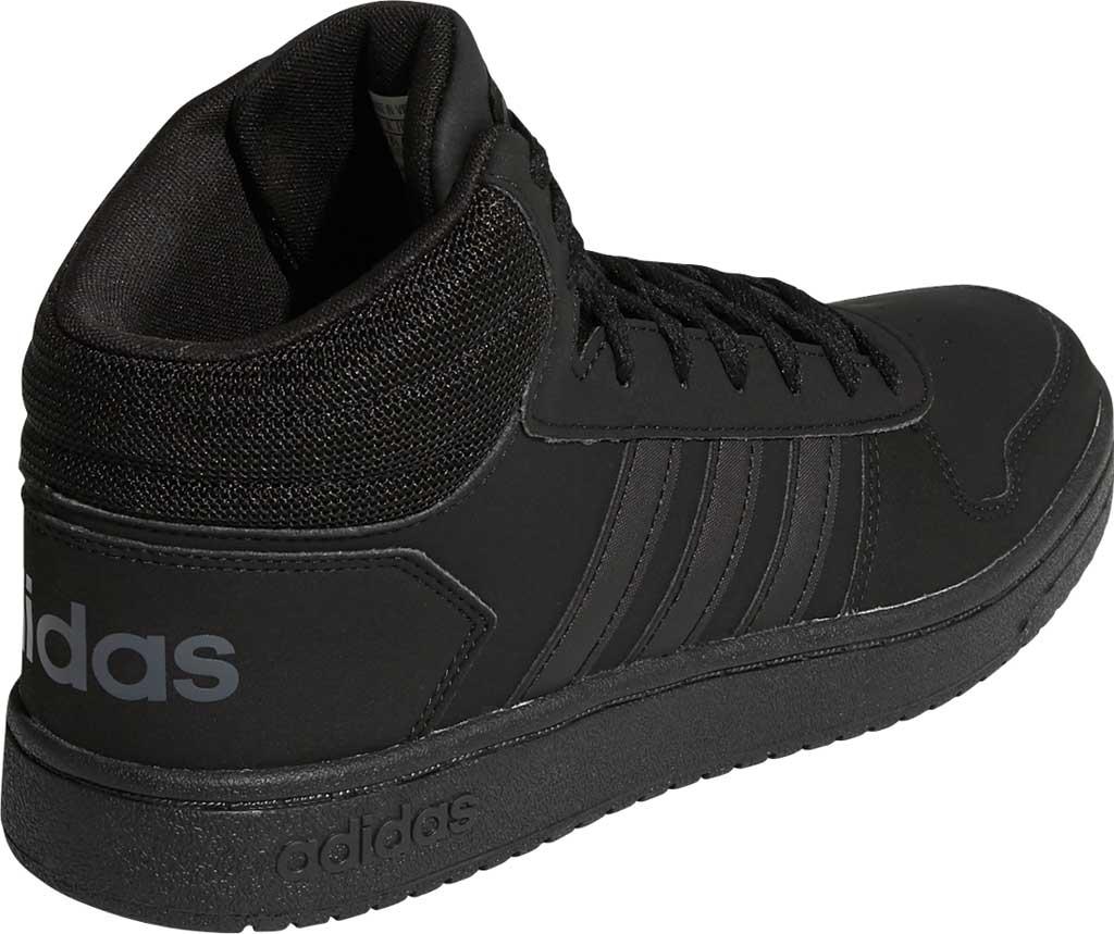 Men's adidas Hoops 2.0 Mid Basketball Shoe, Core Black/Core Black/Grey Six, large, image 4