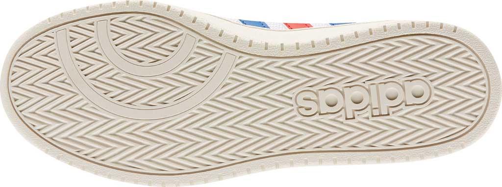 Men's adidas Hoops 2.0 Mid Basketball Shoe, FTWR White/Collegiate Royal/Scarlet, large, image 4