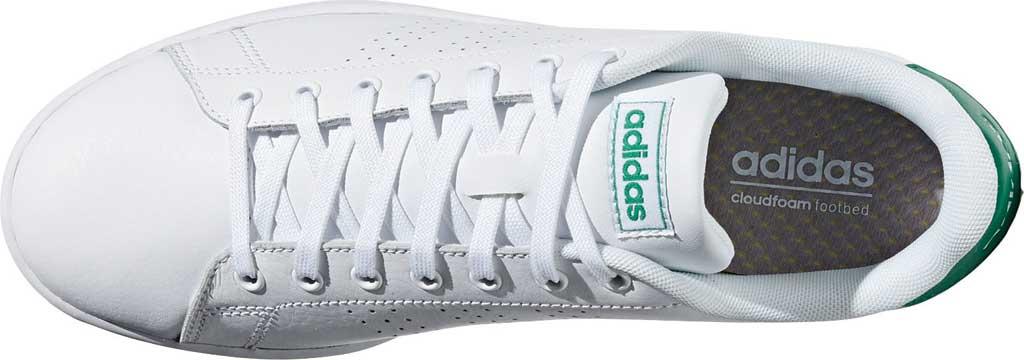 Men's adidas Advantage Sneaker, FTWR White/FTWR White/Green, large, image 5