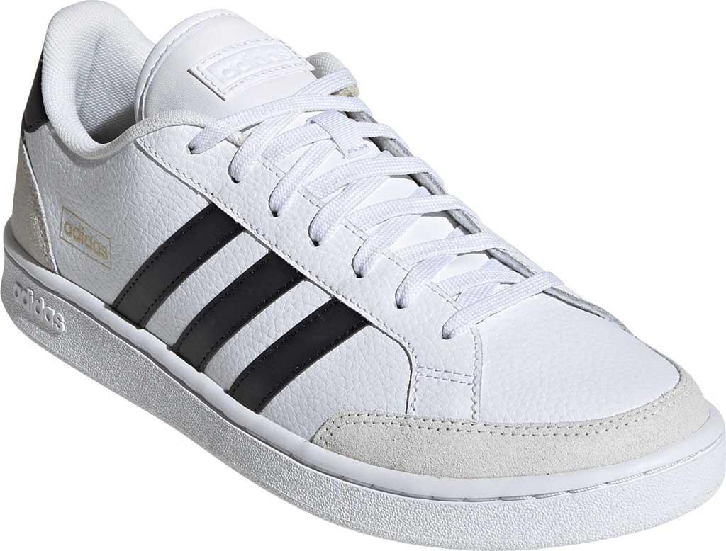 Men's adidas Grand Court Sneaker, FTWR White/Core Black/Orbit Grey, large, image 1