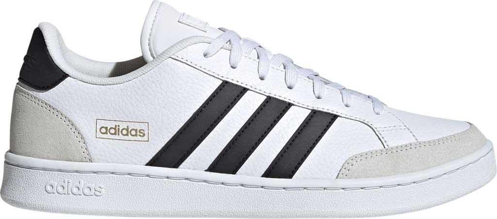 Men's adidas Grand Court Sneaker, FTWR White/Core Black/Orbit Grey, large, image 2