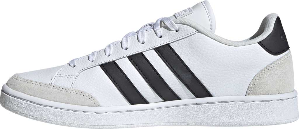 Men's adidas Grand Court Sneaker, FTWR White/Core Black/Orbit Grey, large, image 3