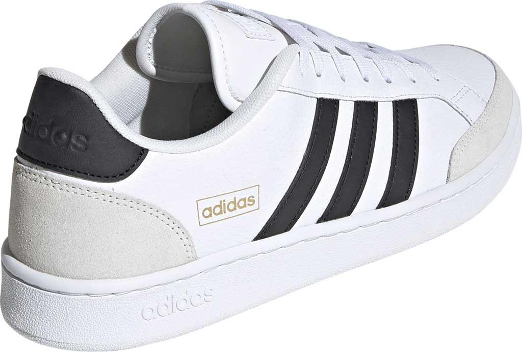 Men's adidas Grand Court Sneaker, FTWR White/Core Black/Orbit Grey, large, image 4