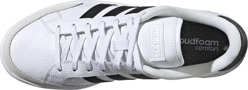 Men's adidas Grand Court Sneaker, FTWR White/Core Black/Orbit Grey, large, image 5