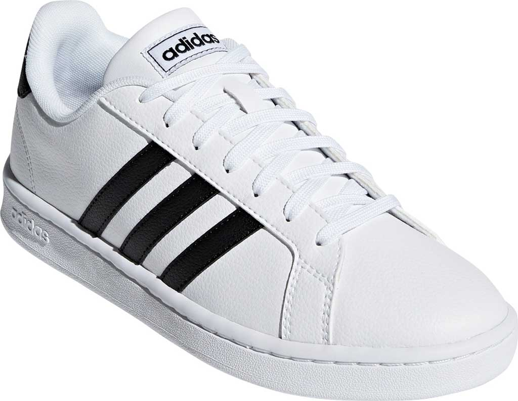 Women's adidas Grand Court Sneaker, FTWR White/Core Black/FTWR White, large, image 1
