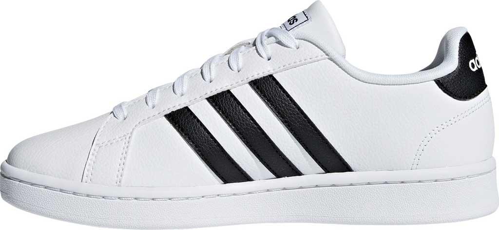 Women's adidas Grand Court Sneaker, FTWR White/Core Black/FTWR White, large, image 3
