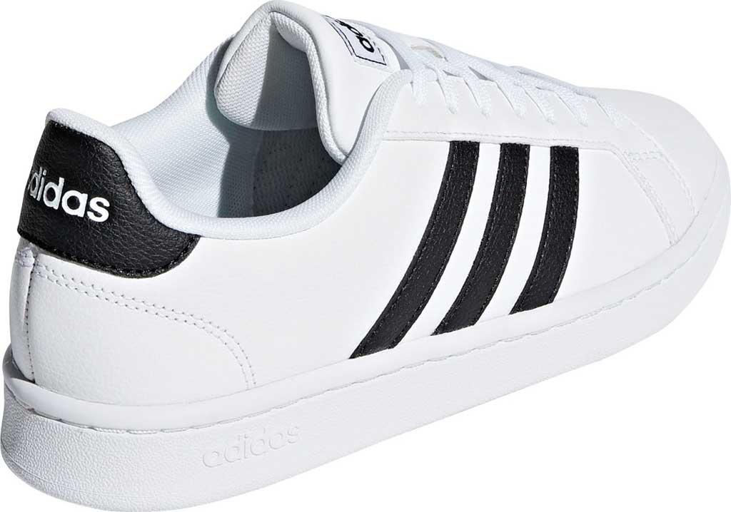 Women's adidas Grand Court Sneaker, FTWR White/Core Black/FTWR White, large, image 4