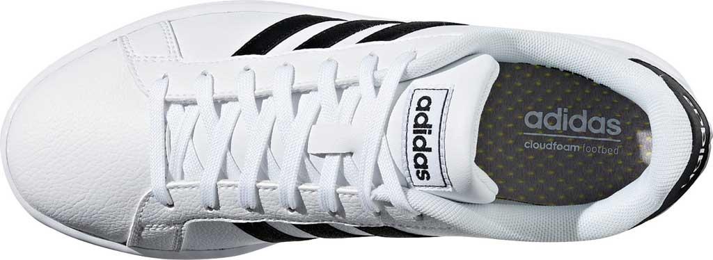 Women's adidas Grand Court Sneaker, FTWR White/Core Black/FTWR White, large, image 5
