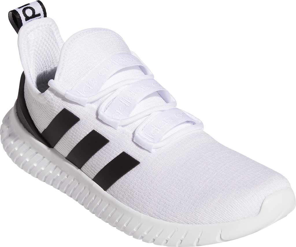 Men's adidas Kaptir Running Shoe, FTWR White/Core Black/Bright Yellow, large, image 1
