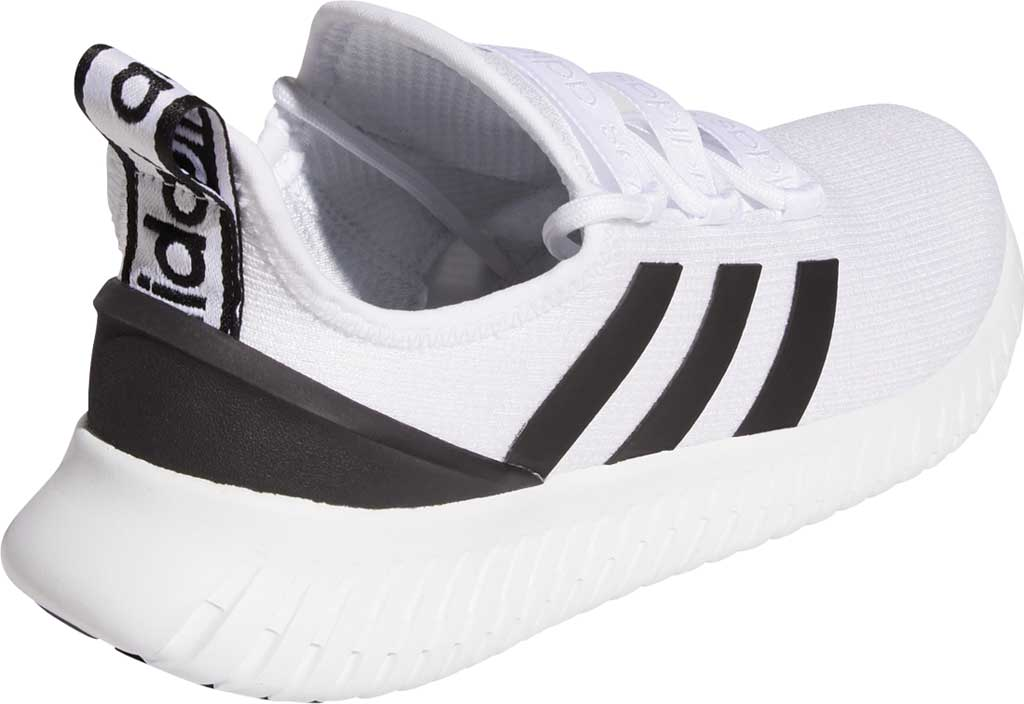 Men's adidas Kaptir Running Shoe, FTWR White/Core Black/Bright Yellow, large, image 4