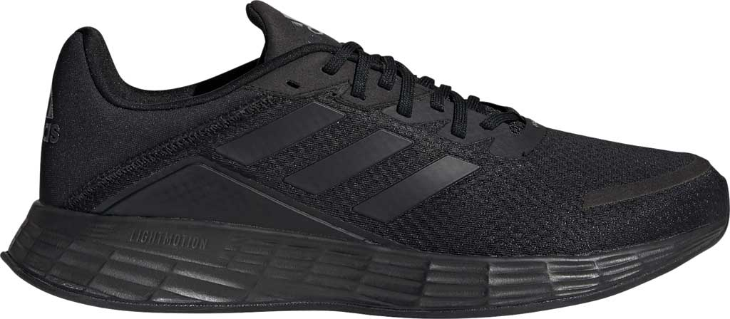 Men's adidas Duramo SL Running Sneaker, Core Black/Core Black/FTWR White, large, image 2