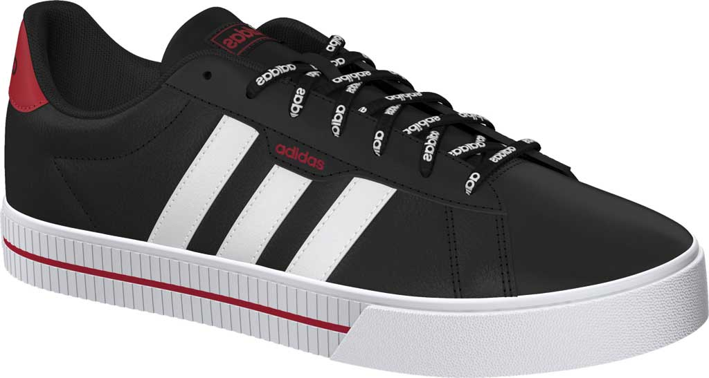 Men's adidas Daily 3.0 Sneaker, Core Black/FTWR White/Legacy Red, large, image 1