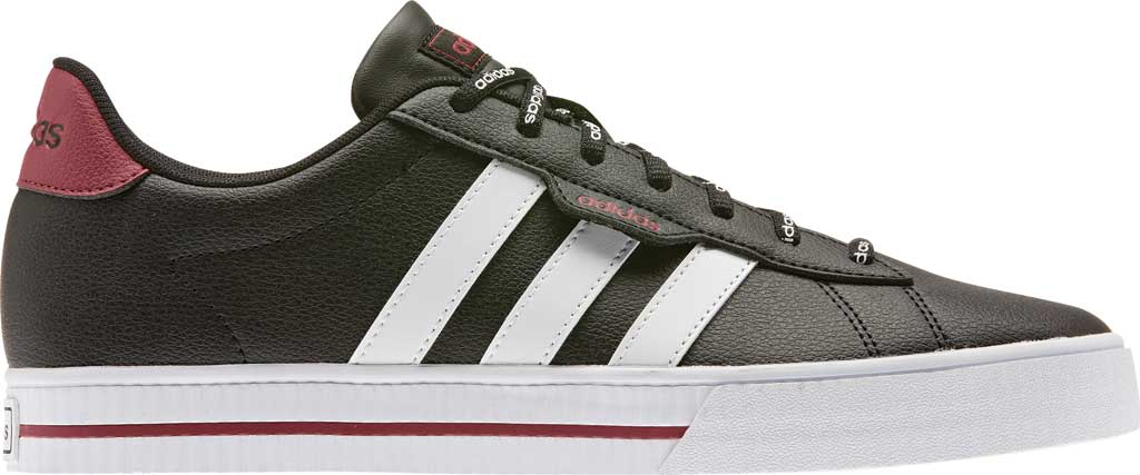 Men's adidas Daily 3.0 Sneaker, Core Black/FTWR White/Legacy Red, large, image 2