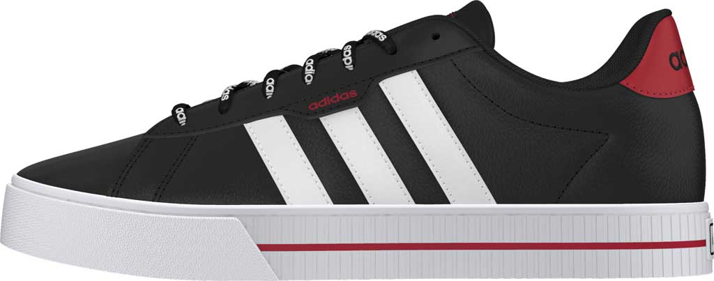 Men's adidas Daily 3.0 Sneaker, Core Black/FTWR White/Legacy Red, large, image 3