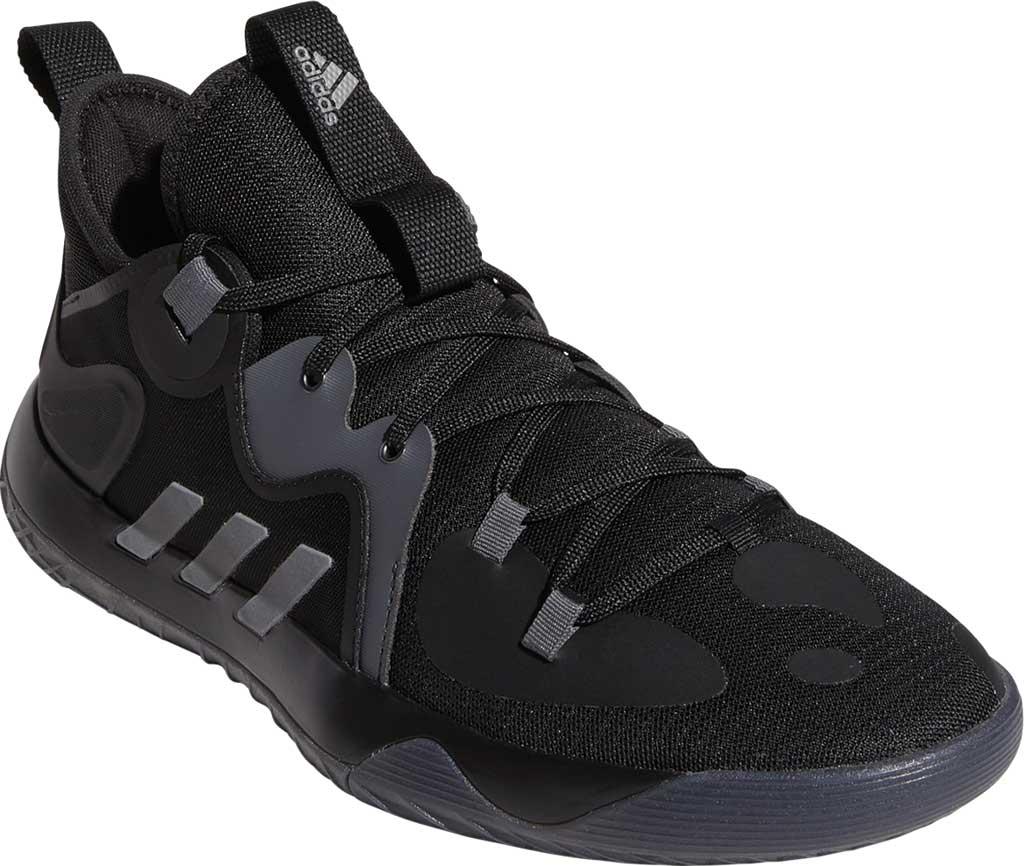 Men's adidas Harden Stepback 2 Basketball Shoe, Core Black/Iron Metallic/Grey Six, large, image 1