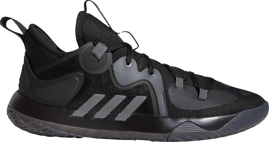 Men's adidas Harden Stepback 2 Basketball Shoe, Core Black/Iron Metallic/Grey Six, large, image 2