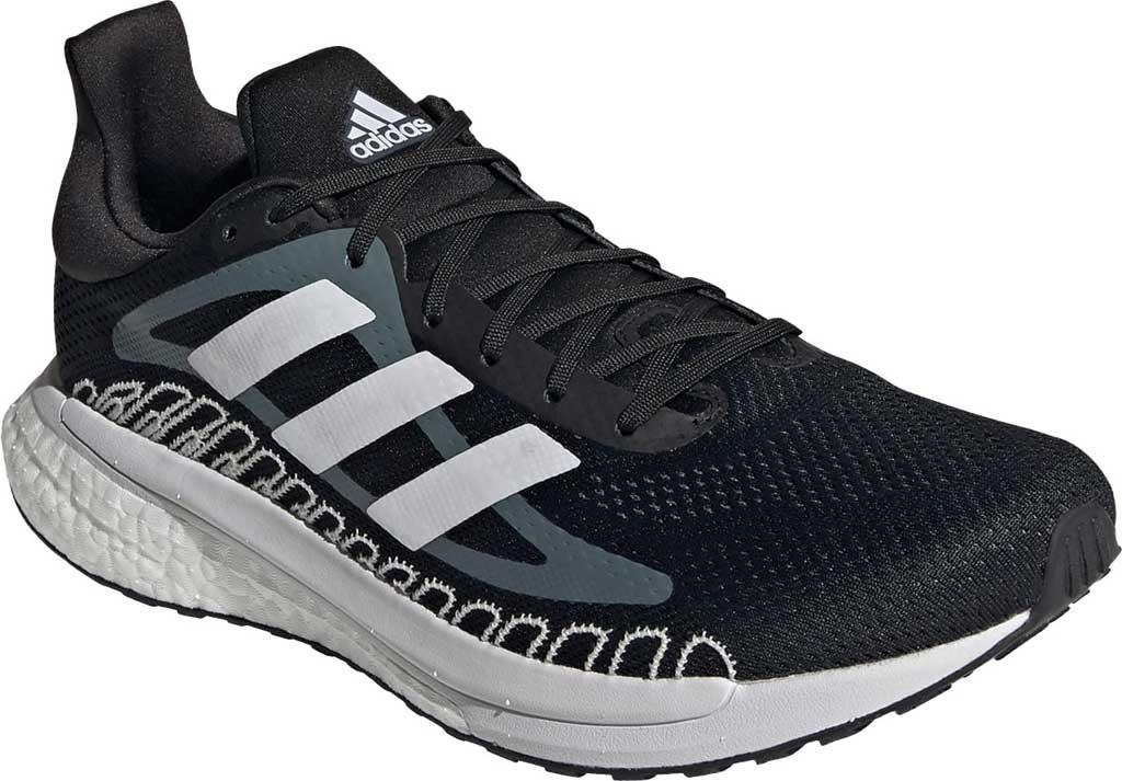Men's adidas SolarGlide ST 3 Running Sneaker, Core Black/FTWR White/Blue Oxide, large, image 1