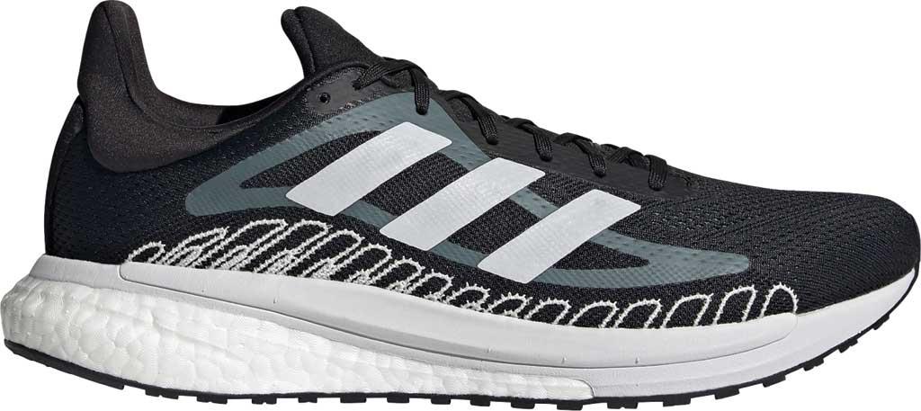 Men's adidas SolarGlide ST 3 Running Sneaker, Core Black/FTWR White/Blue Oxide, large, image 2