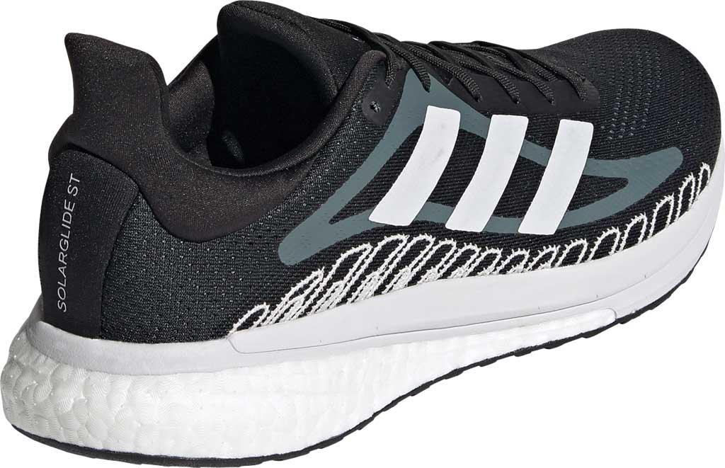 Men's adidas SolarGlide ST 3 Running Sneaker, Core Black/FTWR White/Blue Oxide, large, image 4