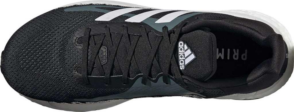 Men's adidas SolarGlide ST 3 Running Sneaker, Core Black/FTWR White/Blue Oxide, large, image 5