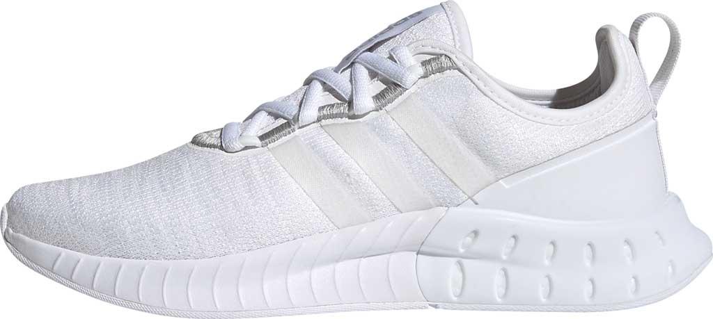 Women's adidas Kaptir Super Running Shoe, FTWR White/FTWR White/Core Black, large, image 3