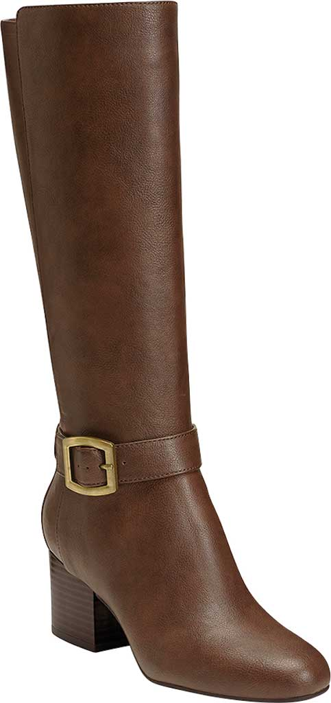 Women's Aerosoles Patience Knee High Boots, Dark Brown Combo/Faux Leather, large, image 1