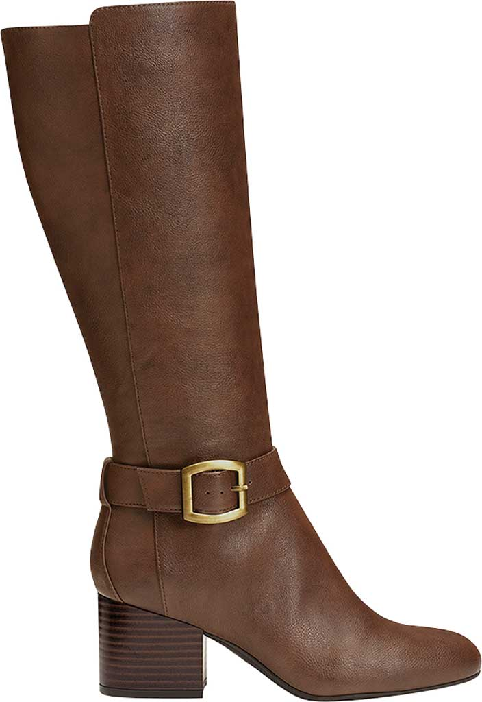 Women's Aerosoles Patience Knee High Boots, Dark Brown Combo/Faux Leather, large, image 2