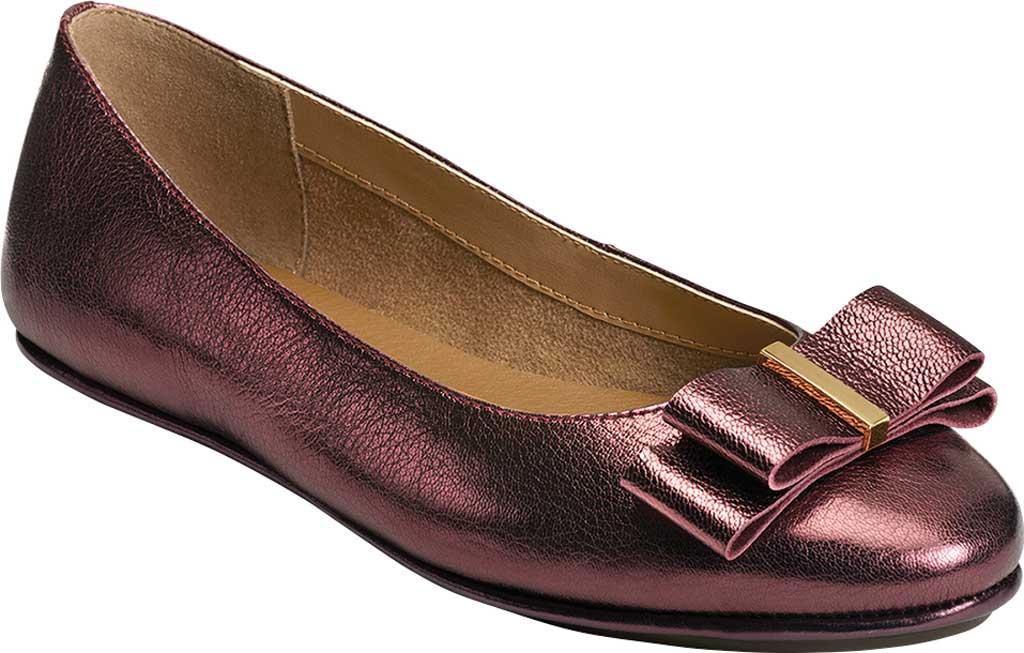 Women's Aerosoles Platinum Conversation Bow Flat, Wine Galaxy Metallic Leather, large, image 1