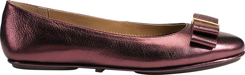 Women's Aerosoles Platinum Conversation Bow Flat, Wine Galaxy Metallic Leather, large, image 2