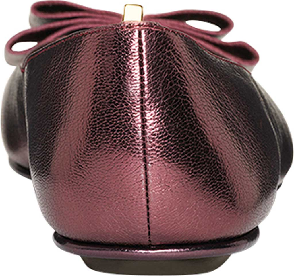 Women's Aerosoles Platinum Conversation Bow Flat, Wine Galaxy Metallic Leather, large, image 3