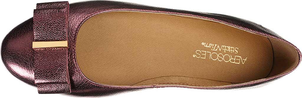 Women's Aerosoles Platinum Conversation Bow Flat, Wine Galaxy Metallic Leather, large, image 4