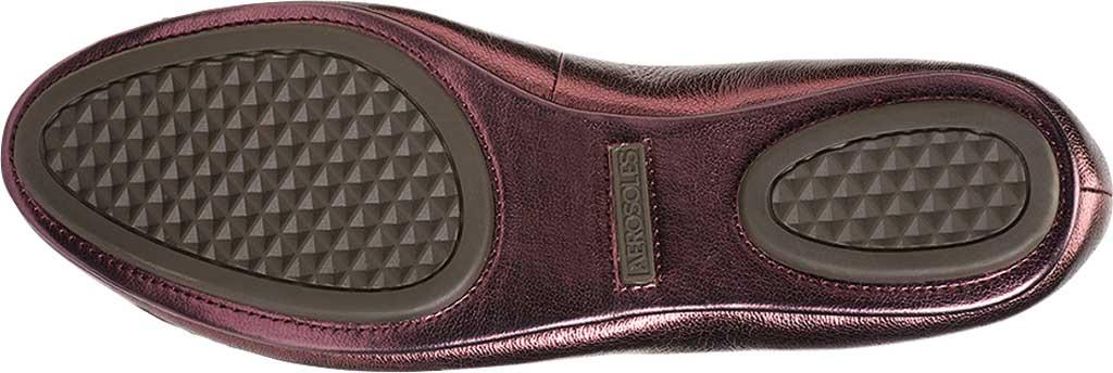 Women's Aerosoles Platinum Conversation Bow Flat, Wine Galaxy Metallic Leather, large, image 5