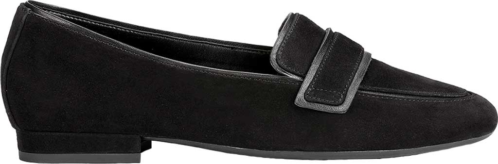 Women's Aerosoles Platinum Outer Limit Loafer, Black Suede, large, image 2