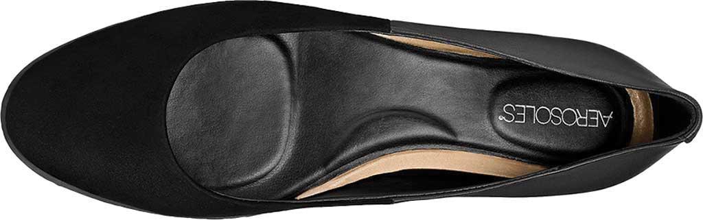 Women's Aerosoles Platinum Night Spell Flat, Black Suede/Leather, large, image 4