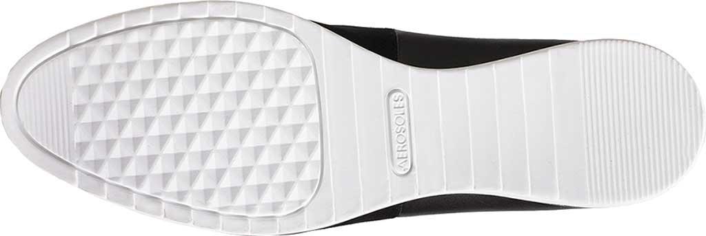 Women's Aerosoles Platinum Night Spell Flat, Black Suede/Leather, large, image 5