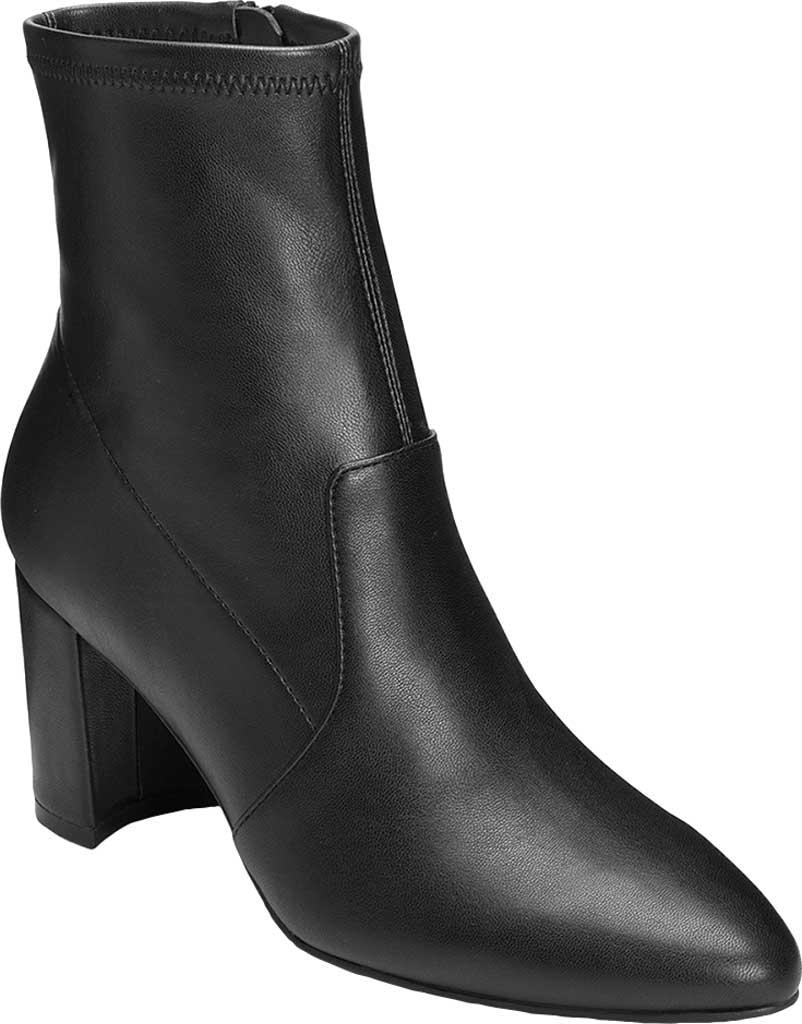 Women's Aerosoles Nikname Block Heel Bootie, Black Textile, large, image 1