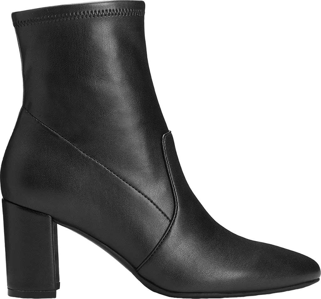 Women's Aerosoles Nikname Block Heel Bootie, Black Textile, large, image 2