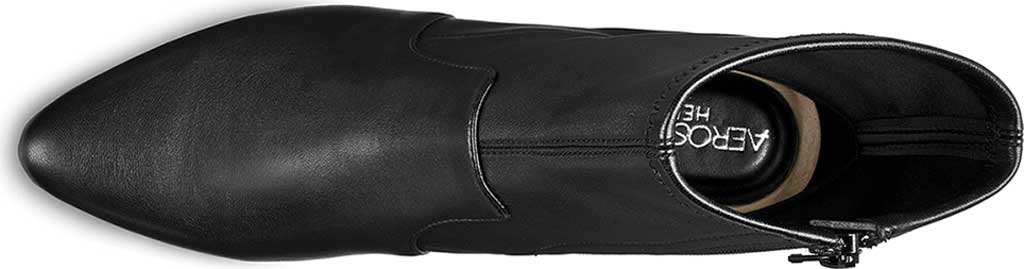 Women's Aerosoles Nikname Block Heel Bootie, Black Textile, large, image 4