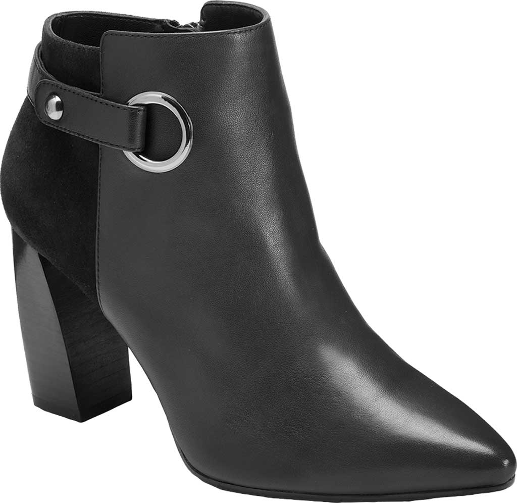 Women's Aerosoles Final Word Ankle Bootie, Black Leather, large, image 1