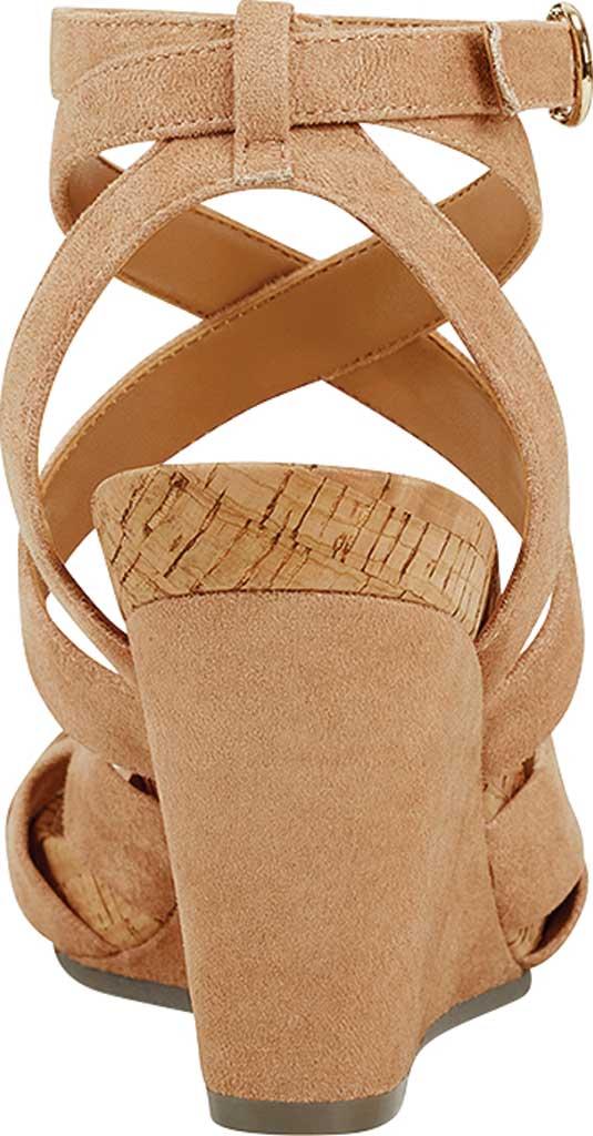 Women's Aerosoles Phoenix Strappy Wedge Sandal, Beechnut Faux Suede/Microfiber, large, image 3