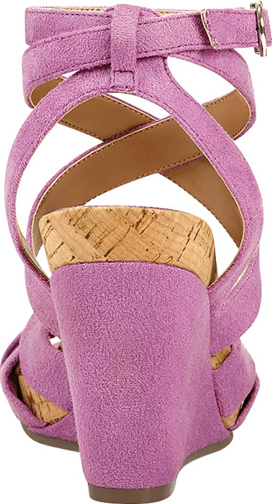 Women's Aerosoles Phoenix Strappy Wedge Sandal, Orchid Faux Suede/Microfiber, large, image 3